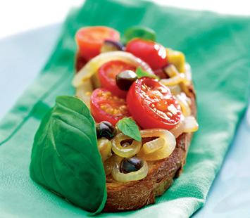 Tomate Cherry com Beringelas e Alcaparras