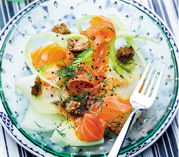 Salada_de_melão_com_lombinho_de_salmão_marinado